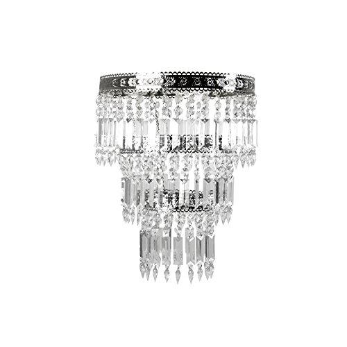 Tadpoles Faux-Crystal & Chrome Queen's Crown Shade, Large, Chandelier Style