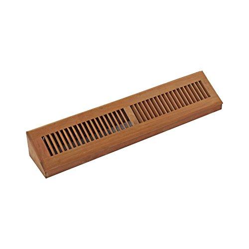 WELLAND 24 Inch Brazilian Cherry Hardwood Vent Baseboard Diffuser Wall Register (Base Vent Wood Register)
