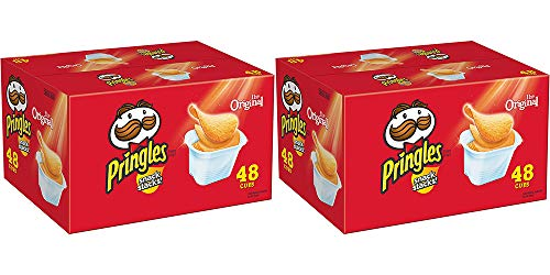 Pringles Snack Stacks Potato Crisps Chips, Original Flavored, 32 Oz, 48 Cups (2 Containers)
