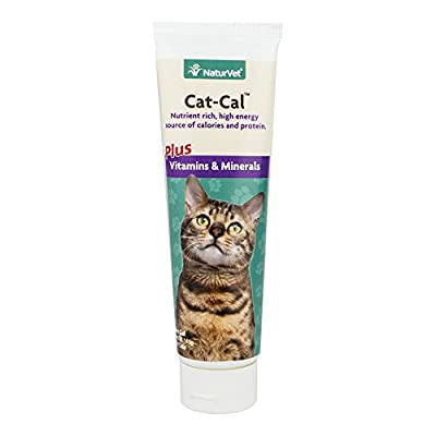 NaturVet Cat-Cal Nutritional Gel Plus Vitamins & Minerals for Cats, 5 oz Gel, Made in USA from Phillips Feed & Pet Supply