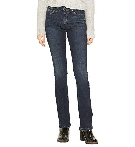 Silver Jeans Co. Women's Suki Curvy Fit Mid Rise Slim Bootcut, Classic Dark Wash, 27Wx 31L