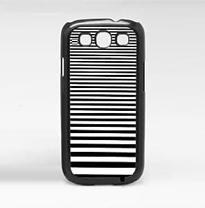 Black Graduating Stripes Hard Snap on Phone Case (Galaxy s3 III)