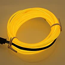 Hatori Flexible Neon Cold Car Vehicle Light Glow Strip Rope EL Wire with 12V Inverter(Yellow)