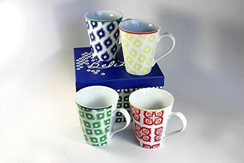 Paperproducts Design Belize Mug (Set of 4), 8 x 8 x 5