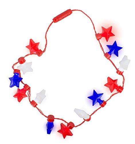 Gloworks Patriotic Fourth of July USA Flashing