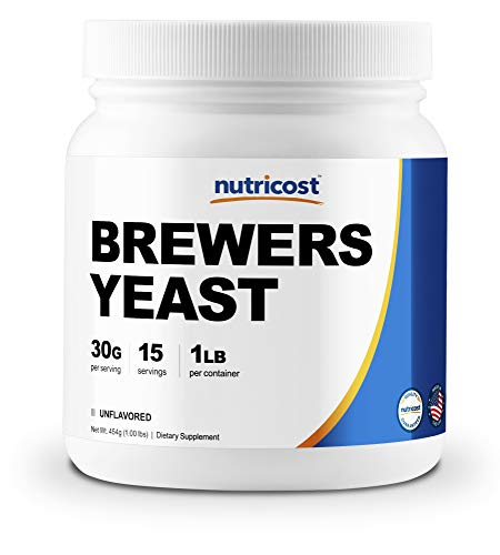 Brewers Yeast Dry (Nutricost Brewer's Yeast 1LB (16oz) - 30 Grams per Serving, High Quality - Non-GMO, Made in The USA)