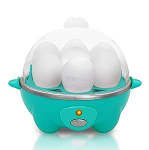 Elite Cuisine EGC-007T Maxi-Matic Egg Poacher & Egg Cooker with 7 Egg Capacity, Teal