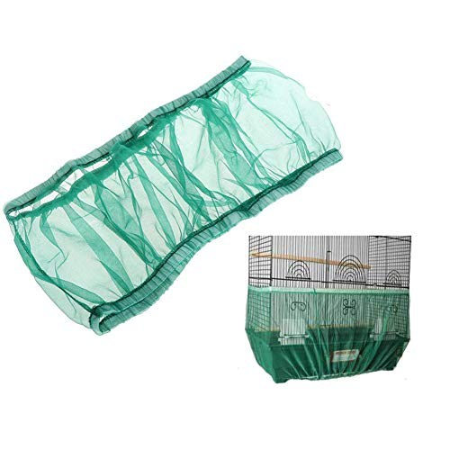- Bonaweite Mesh Bird Seed Catcher, Birds Cage Net Cover, Soft Nylon Skirt with Adjustable Drawstring