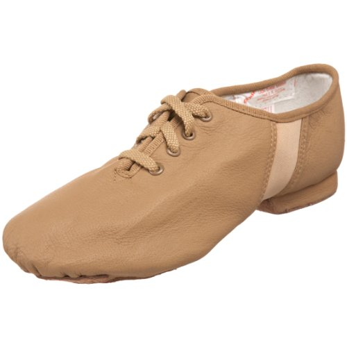SANSHA Tivoli Lace-Up Leather Jazz Shoe,Tan,9 (7.5 M US Women's/5 M US Men's)