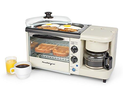 Nostalgia BSET100BC 3-in-1 Toaster Ovens, Bisque - smallkitchenideas.us