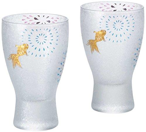 Premium Japanese Sake (Aderia Japan 2 Glasses Set Premium Fire Works Sake Glass S-6267)
