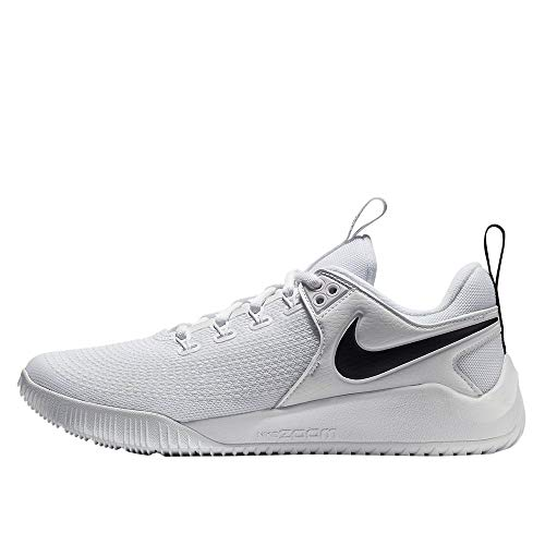 Nike Womens Zoom Hyperace 2 Volleyball Shoe nkAA0286 100 (7.5 M) White/Black