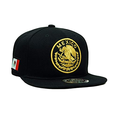 Mexico Eagle Embroidery Snapback Hat Adjustable Mexico Flag Baseball Cap ()