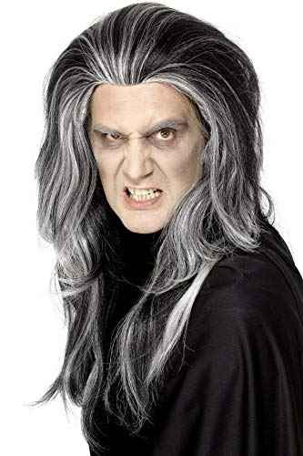 Smiffys Gothic Vampire Wig Costume, Black/White, One Size for $<!--$19.55-->