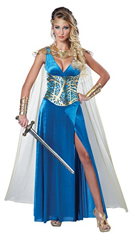 Sexy Medieval Costumes - California Costumes Women's Warrior Queen Costume, Blue/Gold, Small