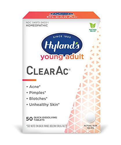 Acne Treatment for Teens, Hyland's Young Adult ClearAc, Acne Pills, 50 Quick Dissolving Tablets
