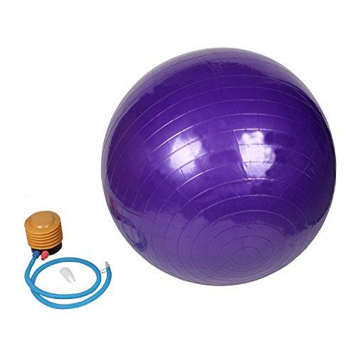 Zowaysoon 75cm Yoga Ball Anti Burst Exercise Stability Balance Ball with pump