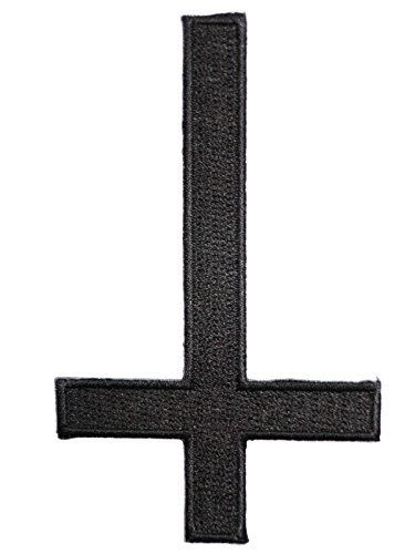 Inverted Cross Satan goth Black Metal punk indie Gothic Pagan Iron On Embroidered PatchApprox: 3.9