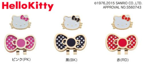 [ Bridgestone ] Hellow Kittyゴルフキャップマーカー2014モデルカラー: Bk (ブラック)日本から   B01IHYT9TI