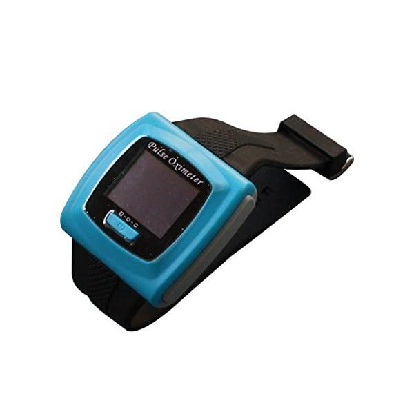 BLYL Muñequera CMS-50F Monitor de Saturación de Oxígeno y Medición de la Frecuencia Cardíaca con Pantalla OLED para la Salud Deporte, Cuidado de la Salud en el Hogar, Azul OXIMETER 4