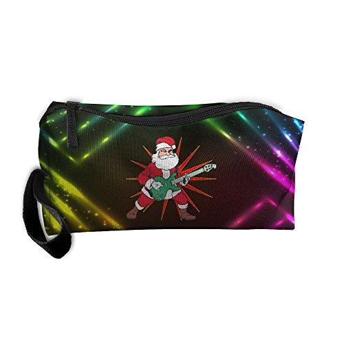 Geisha Halloween Makeup (Rock And Roll Santa Travel Cosmetic Zipper Bags Makeup Clutch Pouch Toiletries Organizer Bag)