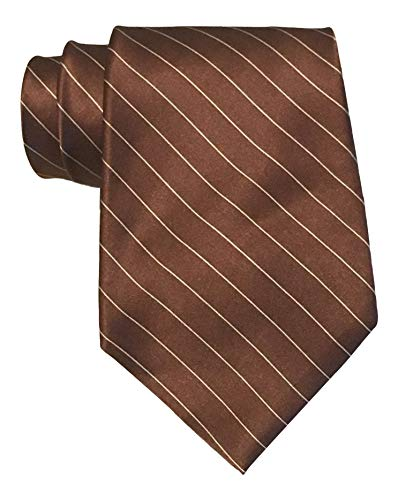 (Polo Ralph Lauren Satin Brown Striped Tie)