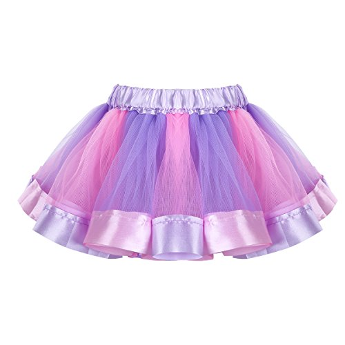 Filles Tiaobug Enfants Robe Ballet De Danse Tulle Jupe Tutu Enfant Arc Arc Lavande Robe Costume Et Rose
