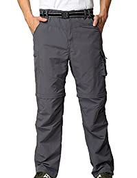 Alafen Unisex Outdoor Lightweight Breathable Hiking Convertible Pant