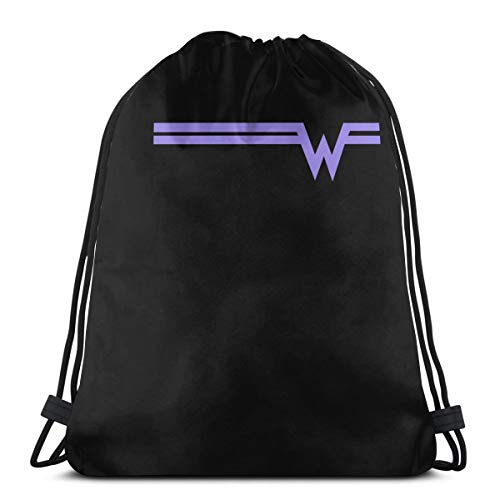 P77YTDEUFOL DeepHeather Weezer Rock Band Logo Durable Drawstring Backpack For Mens And Womes One Size White