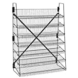 Wire Candy Snack Rack, 7 Tier, 36'' Wide, Black, Free Stand or Mount