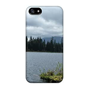 Hot Fashion Fql3143yYwB Design Case Cover For Iphone 5/5s Protective Case (cloudy Day On The Lake)