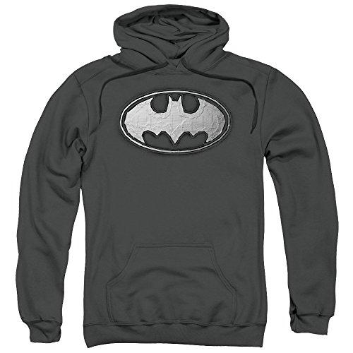 Batman DC Comics Duct Tape Logo Adult Pull-Over Hoodie ()