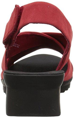 Clarks Femmes Caddell Pétale Sandale Rouge Synthétique Nubuck