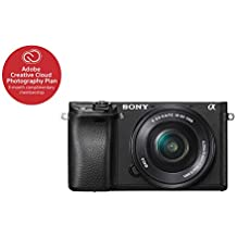 "Sony Alpha a6300 Mirrorless Camera Interchangeable Lens Digital Camera with APS-C, Auto Focus & 4K Video - ILCE 6300L Body with 3"" LCD Screen & 16-50mm Power Zoom Lens - E Mount Compatible - Black"