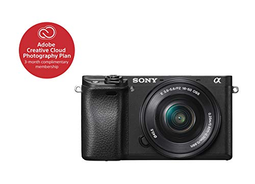 "Sony Alpha a6300 Mirrorless Camera Interchangeable Lens Digital Camera with APS-C, Auto Focus & 4K Video – ILCE 6300L Body with 3"" LCD Screen & 16-50mm Power Zoom Lens – E Mount Compatible – Black"