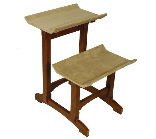 PetSafe Solvit Mr. Herzher's Double Seat Cat Furniture, Free-Standing, Solid Wood Cat Perch, Great for Small to Large Cats and Multiple Cat - Double Perch Cat