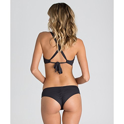 Billabong Women's Sol Searcher Cross Back Bikini Top, Black Sands, Medium