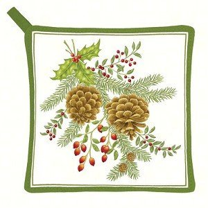 Alice's Cottage AC21327 Holiday Pinecones Pot Holder by Alice's Cottage