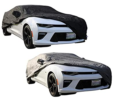 PROTEKZ Custom Car Cover for Chevrolet Camaro GEN 5/6 2010 2011 2012 2013 2014 2015 2016 2017 2018 2019 – UV Resistant – Breathable Fabric