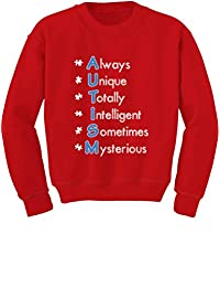 TeeStars - Autism Always Unique - Autism Awareness Toddler/Kids Sweatshirts 4T Red