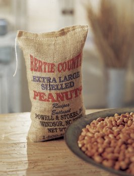 Extra Large Shelled Raw Peanuts 1 - 5 Lb Burlap Bags (Shelled Peanuts Raw)