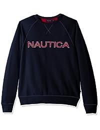 Nautica - Sudadera de Manga Larga para Hombre, Cuello Redondo