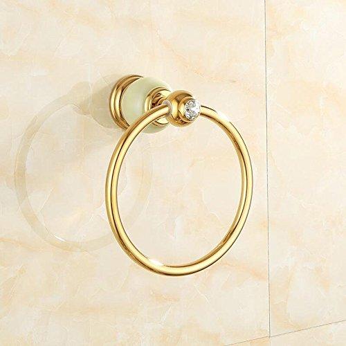 Znzbzt jewel of whole copper bath towel rack bathroom metal wall of marble gold towel rack racks, Green Jade Towel Ring