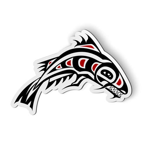 (AK Wall Art Native Shark Fish Pacific Northwest - Magnet - Car Fridge Locker - Select Size)