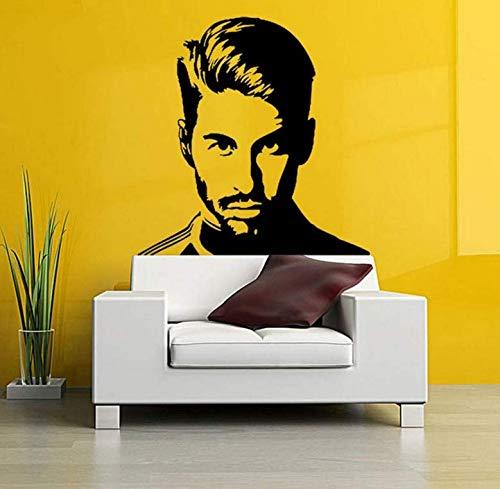 3D Wall Stickerroom Wall Wall Papel Tapiz Sergio Ramos Tatuajes De ...