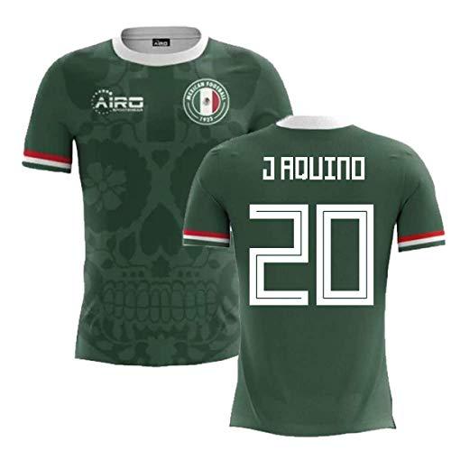 - Airosportswear 2018-2019 Mexico Home Concept Football Soccer T-Shirt Jersey (Javier Aquino 20)