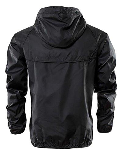 Men's Athletic Jackets Black Windbreaker Running Lightweight today UK Track xXTq5HwRw