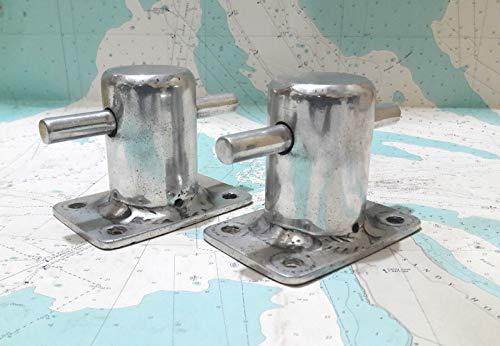 Isha Marine International Vintage Marine Ship Antiques Aluminium Boat Dock Cleat/Bollard Cleat (2 Pieces) ()