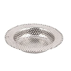 uxcell Stainless Steel Bathroom Hair Waste Mesh Sink Basin Strainer 11cm Dia durable service
