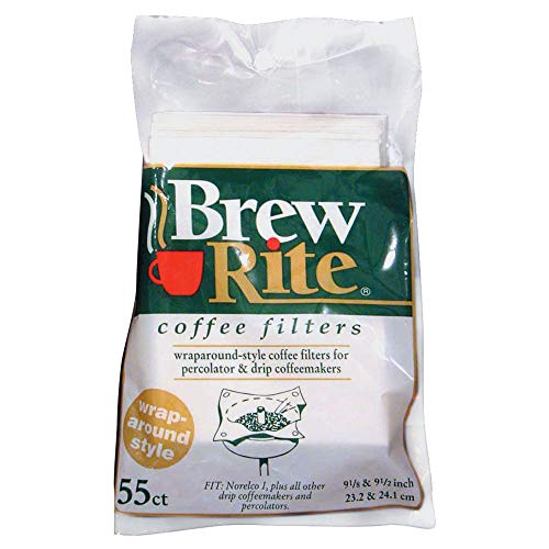 Brew Rite Wrap Around Percolator Coffee Filter 55 Ct (Pack of 2) (Filters Wrap Coffee)
